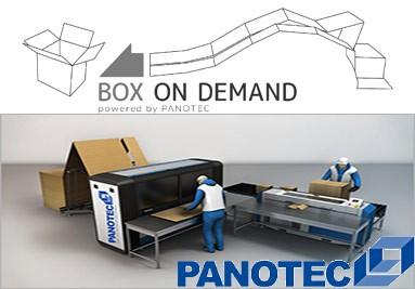 Panotec, cajas a demanda en carton continuo.